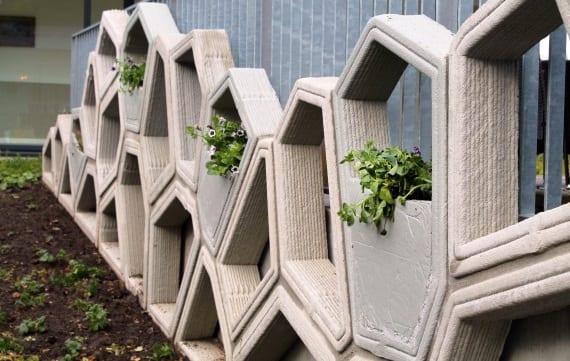 3D-betonprinten in Enschede; een groene gevel
